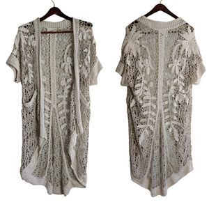 Anthropologie Angel of the North Lana Duster Cardigan